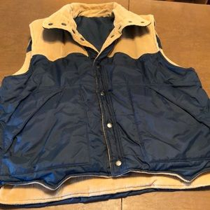 VTG Reversible Corduroy Insulated Western Vest